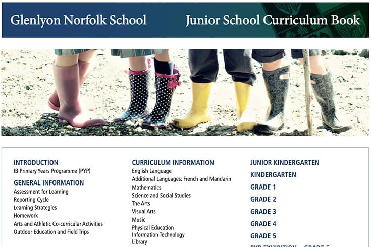 Junior School Curriculum Book