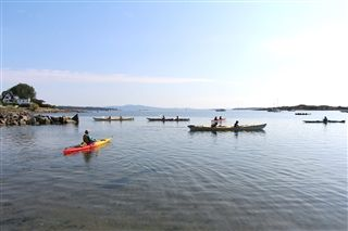Campers got out onto the water in the 2020 Kayak Camp