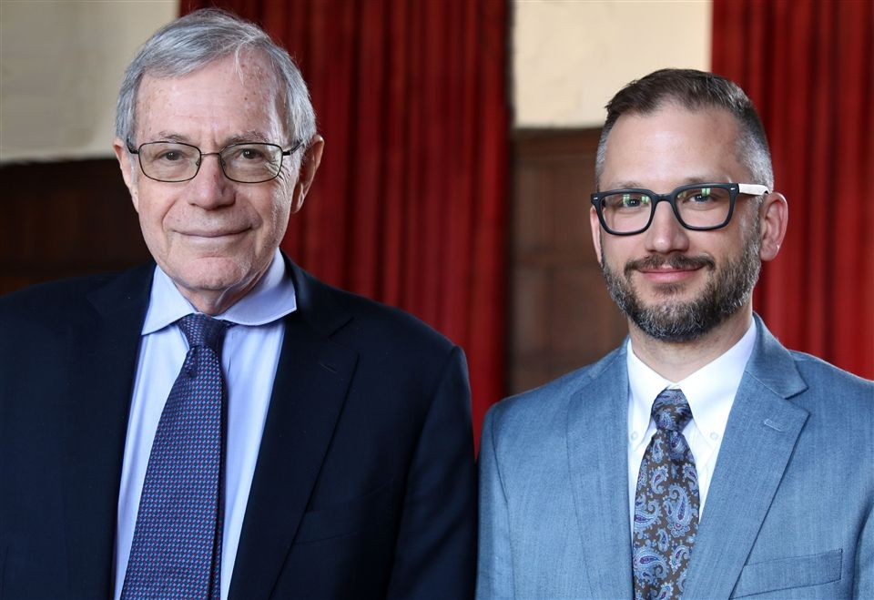 Dr. Eric Foner with History Department Chair Josh Hatala