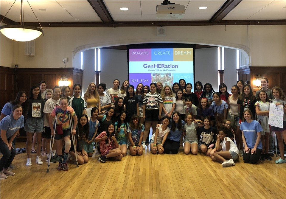 Upper campers with Katlyn Grasso, founder and CEO of GenHERation