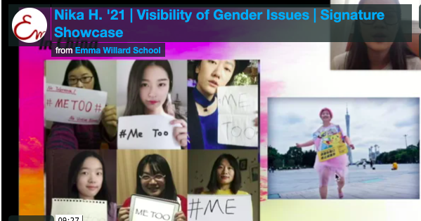 Video cover for Nika H. '21: Visibility of Gender Issues
