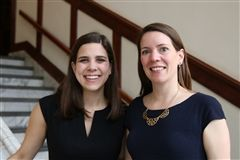 Katlyn Grasso, founder and CEO of GenHERation with Dr. Meredith Legg, academic dean