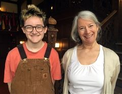 Max H. '19 with Ms. McClellan, who nominated him for the award