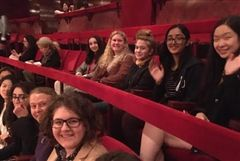Emma Willard School Students find their seats for a performance of La Bohème.