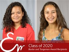 Meya and Molly honored with Class of 2020 awards