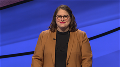 Leah Friedman '02 in her official JEOPARDY!™ photo