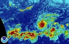 Infrared Image of Hurricane Lane as of August 22 at 11AM