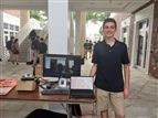 Jake Malis '22 recruited members for Pine Crest's first Artificial Intelligence and Deep Learning Club at the Upper School Club Fair.