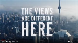 What makes Toronto so special? Because, as this Toronto Tourism video shows, The Views are Different Here.