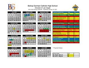 Unlv 2022 Calendar.Bishop Gorman High School Calendar