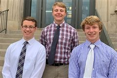 (L to R) Jared Vornhagen, Sam Harmeyer, & Evan Vollmer