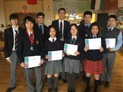 Congratulations to our top Math Contest achievers.