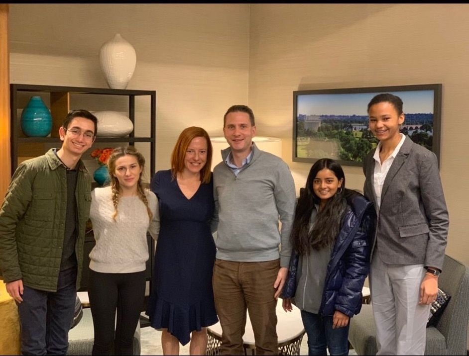 CS Fellows with Jan Psaki and Eric Schultz