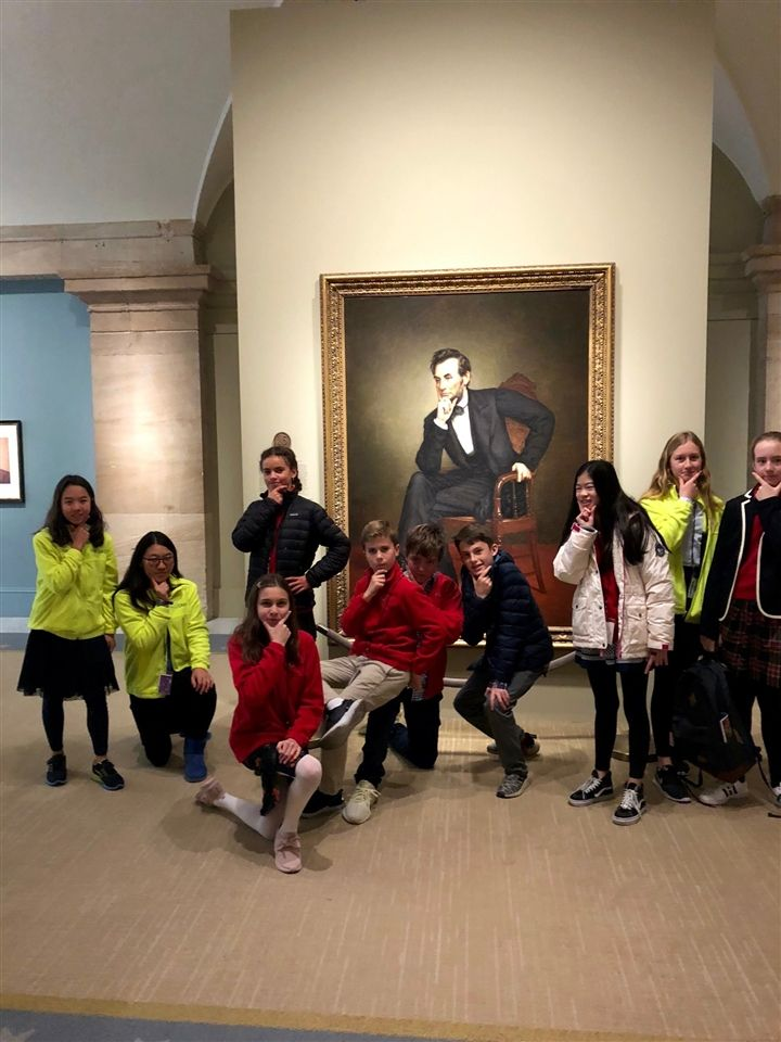 CS students at the National Gallery