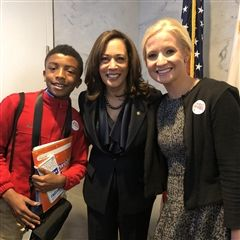 Students and teachers were honored to meet Senator Kamala Harris
