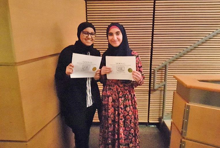 Kawthar Aldawood and Lemma Hejazi win Outstanding Delegation!