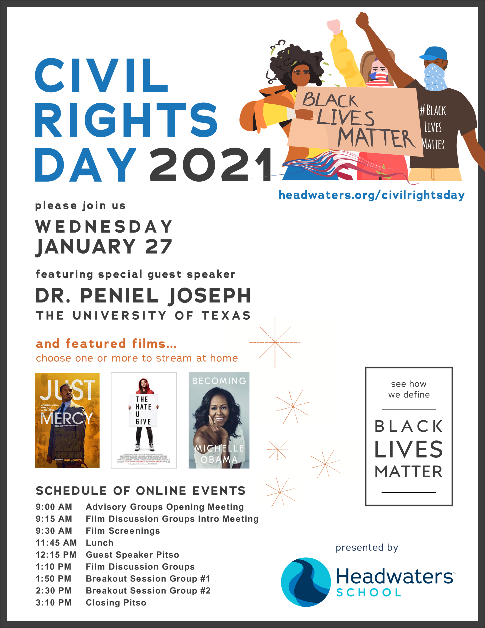 River Civil Rights Day 2021 Event Poster