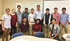Mike Leonard '14 (Back row center) with the IRP students.