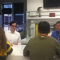 Architect Roark Redwood '95 recently met with Hackley's Architecture class taught by Greg Cice
