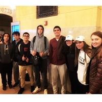 Hackley students with Diego Elias from Peru.