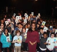 Ilyasah Shabazz and her book fans