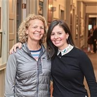 Jenny Leffler and Julianne Puente '91