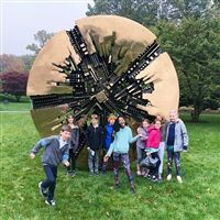 The Hackley Lower School fourth grade students visited the sculpture gardens at Pepsico on October 22.