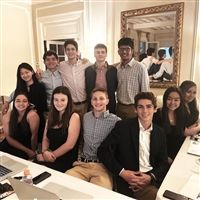 Hackley students, including the members of the Upper School