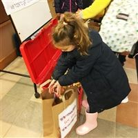 Donating Treats for Troops at the Lower School.