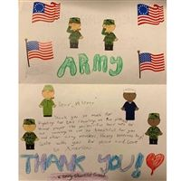 Letters of gratitude to veterans in honor of Veteran's Day.