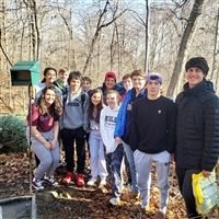 The Advanced Forest Ecology Students are continuing the annual tradition of using recycled Christmas tree to build habitat for birds.