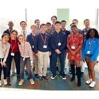 Hackley science IRP (Independent Research Project) students at Regeneron.