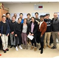 Our thanks to Dr. Yancopoulos (On the right) for visiting the IRP students.
