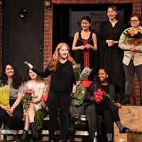 Students saying their farewell's at the end of the 2019-20 Fall Upper School play