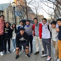 Hackley Upper School debaters at the University of Pennsylvania's 45th annual Liberty Bell Classic.