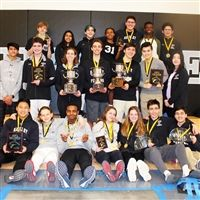 The Varsity Fencing team after the ISFL Championships.