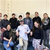 AJ Cortese '14 (2nd row far left) with the Hackley AP Chinese class.