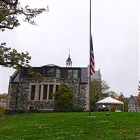Flag at half-mast by the Upper School.