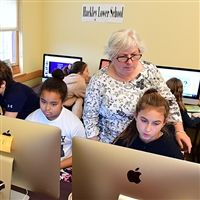 Mrs. Murray-Jones in the LS Computer Lab.