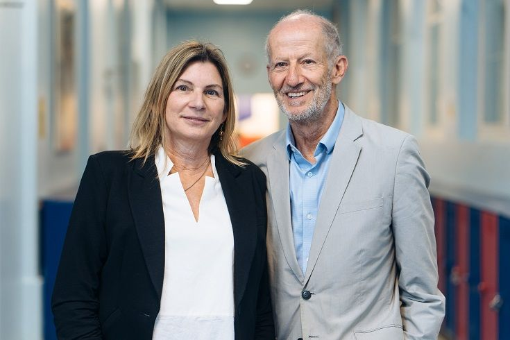 Larry Rosenstock and Jean Kluver - Photo taken by Alex Masters