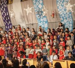 Grades Junior Pre-Kindergarten through Grade 5, along with Middle School musicians performed in this year's Holiday Concert at Clairbourn School.