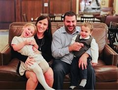 Liz and her husband, Vinny, have two wonderful children Gianna and Dominic.