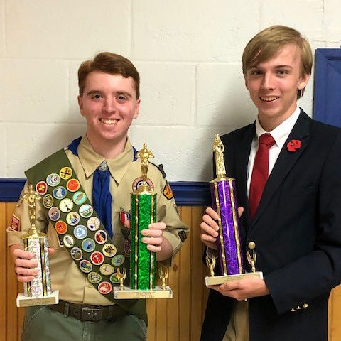 Anthony Bibbo (left) and Christopher Dodd (right) with their VFW awards