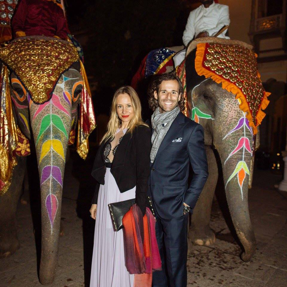 Christian and his wife Tamsin at the 2016 British Polo Day in Jaipur
