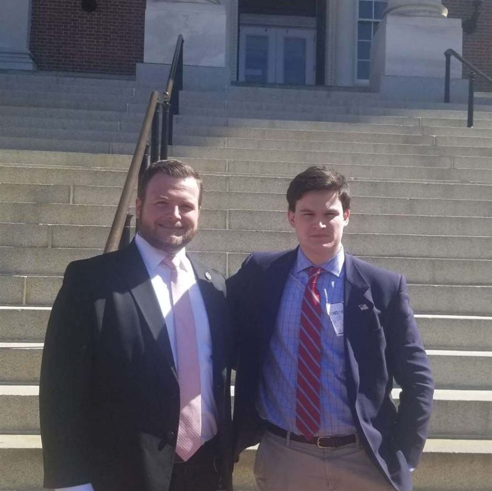 Max Donegan '19 completed an externship with State Delegate Patrick Young '01 last spring.