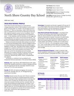 North Shore Country Day School Profile 2018-19