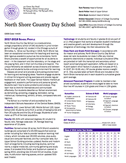 North Shore Country Day School Profile 2017-18