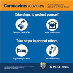 Coronavirus Safety Reminder from NYPD