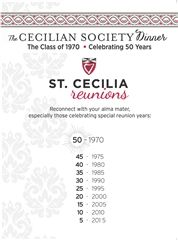 Cecilian Society Dinner & Reunions