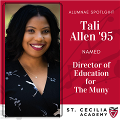 Tali Allen '95 has been named the Director of Education for The Muny!